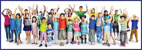 Kids waving